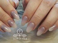 Pretty color dip powder ombre nails