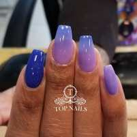 Purple and blue ombre nails