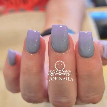 SNS Dip power ombre gray and lavender.