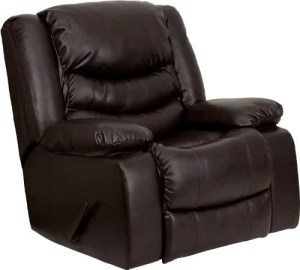 Rocker Recliner with Padded Arms - by Flash Furniture