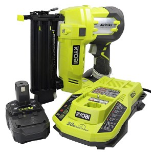 Ryobi 3 Piece 18V One+ Airstrike Brad Nailer Kit
