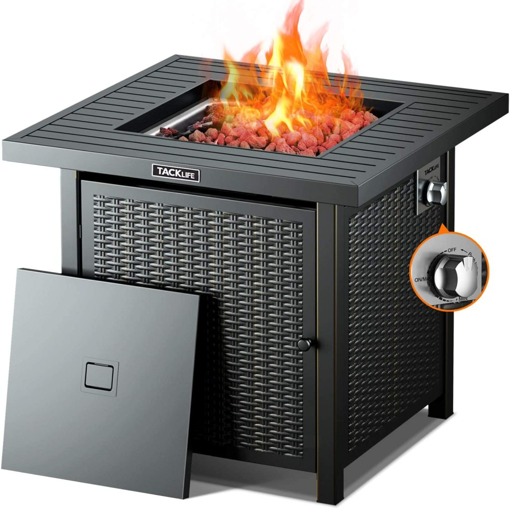 TACKLIFE Propane 50000 BTU Fire Pit Table
