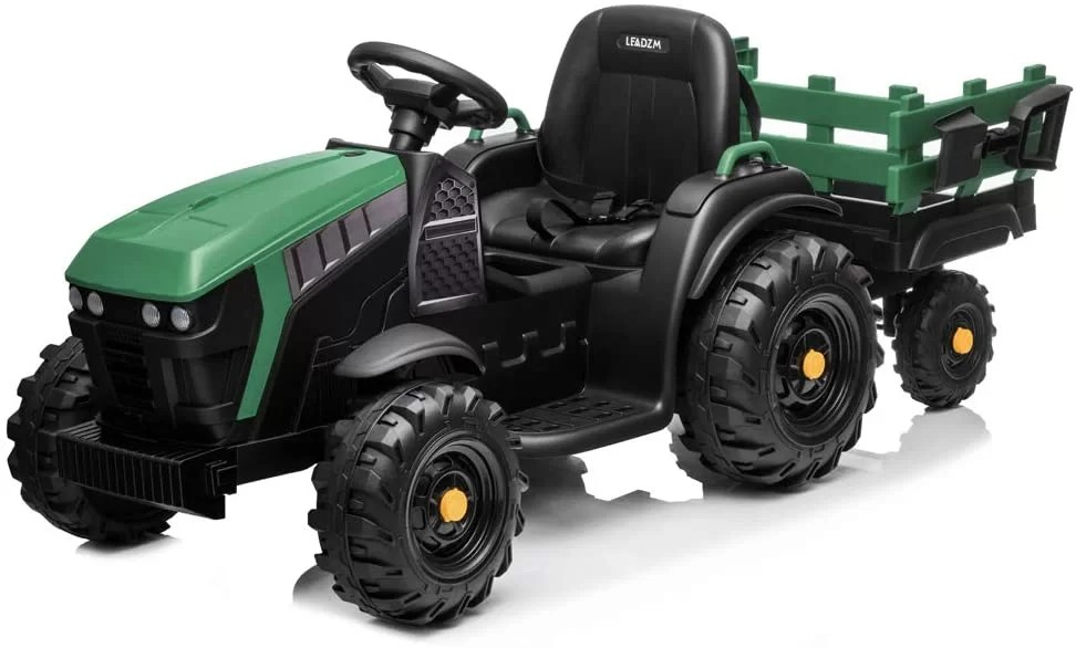 VALUE BOX Extra Larger 12V Ride-on Tractor with Trailer