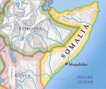 Somali map via topnews