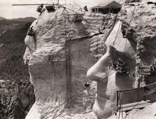 Строительство горы Рашмор, 1939.