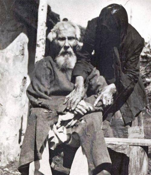 Единственная фотография участника Бородинского сражения. Павел Яковлевич Толстогузов в возрасте 117 лет, 1912.