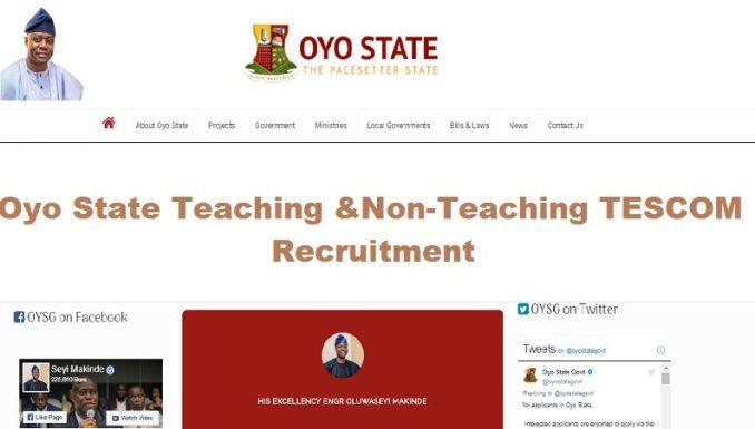 Oyo State Teachers Recruitment
