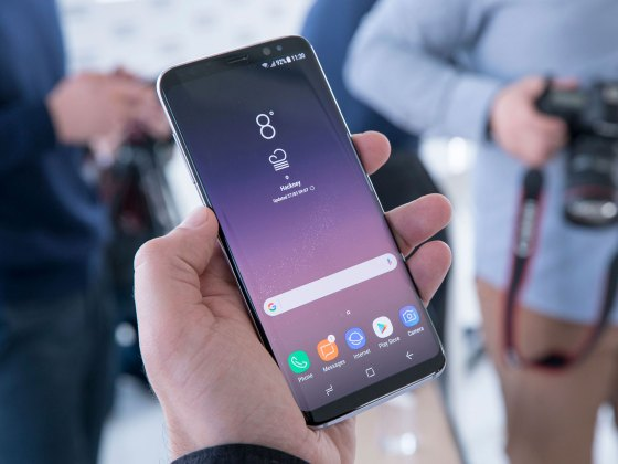Samsung Galaxy S8 - Front - Holding in Hand