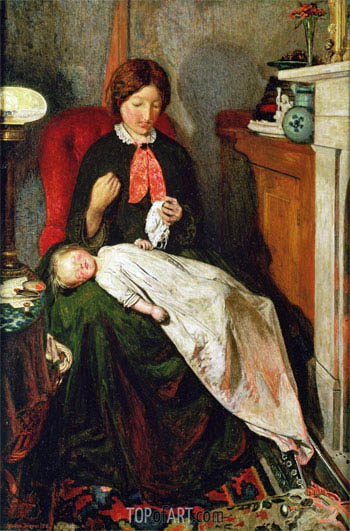 Waiting: an English Fireside of 1854-55 - Ford Madox Brown - Painting Reproduction