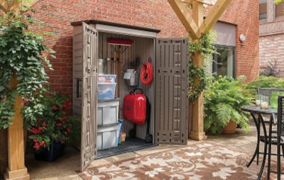 Top Vertical Storage Shed - Rubbermaid Plastic Large Vertical Outdoor Storage Shed