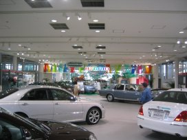 The Toyota Megaweb showroom in Odaiba's Palette Town