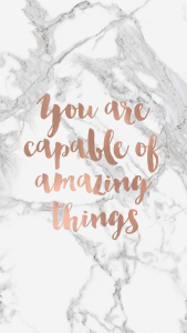 You Are Capable Quote Phone Background