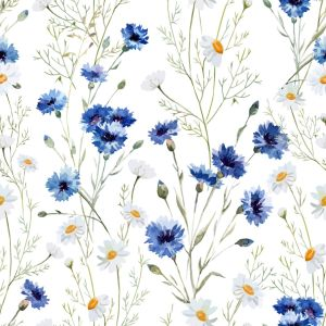 Airy Flower Pattern Wallpaper for Walls