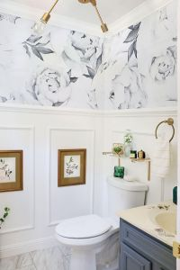 Half-Bathroom-with-wallpaper-and-molding