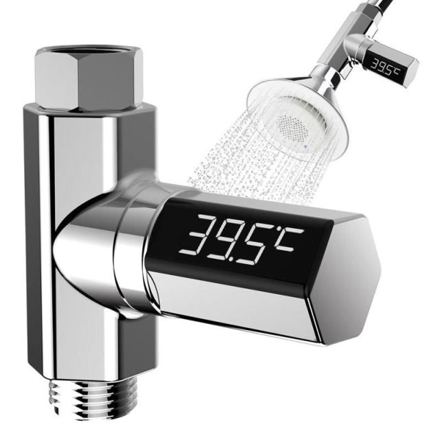 LED Thermometer Shower Water Display Temperature Monitor