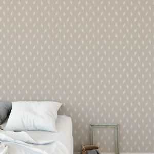 MEADOW IN TAUPE Peel and Stick Wallpaper