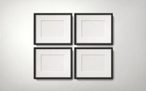Orderly picture frames