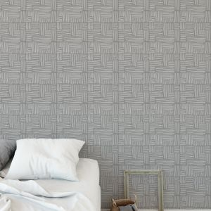 RAILS GREY Peel and Stick Wallpaper By