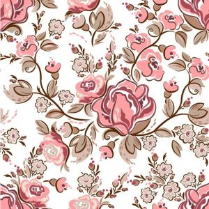 Hand-painted flowers vector backg