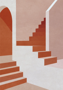 Staircase in Pink - Limited Edition Prin