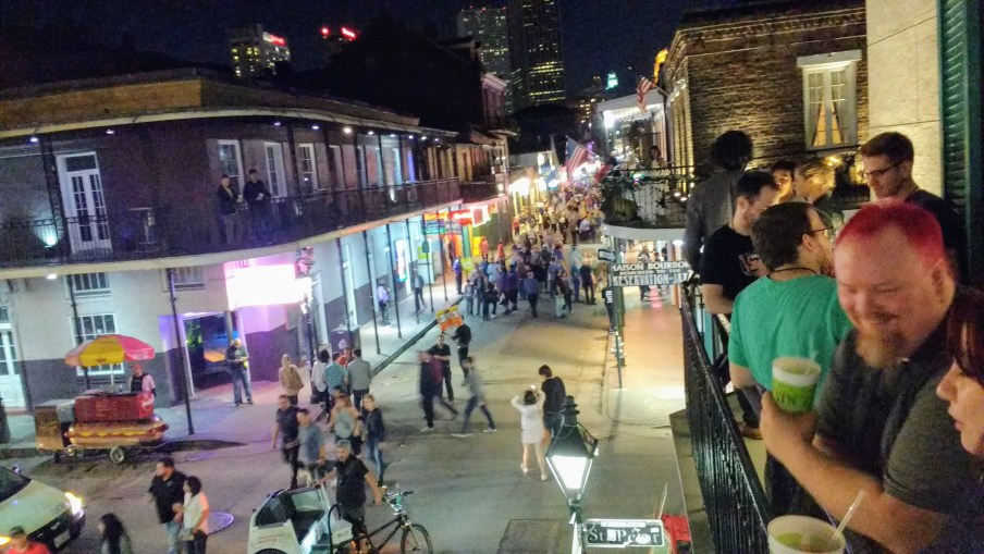 Bourbon St in New Orleans