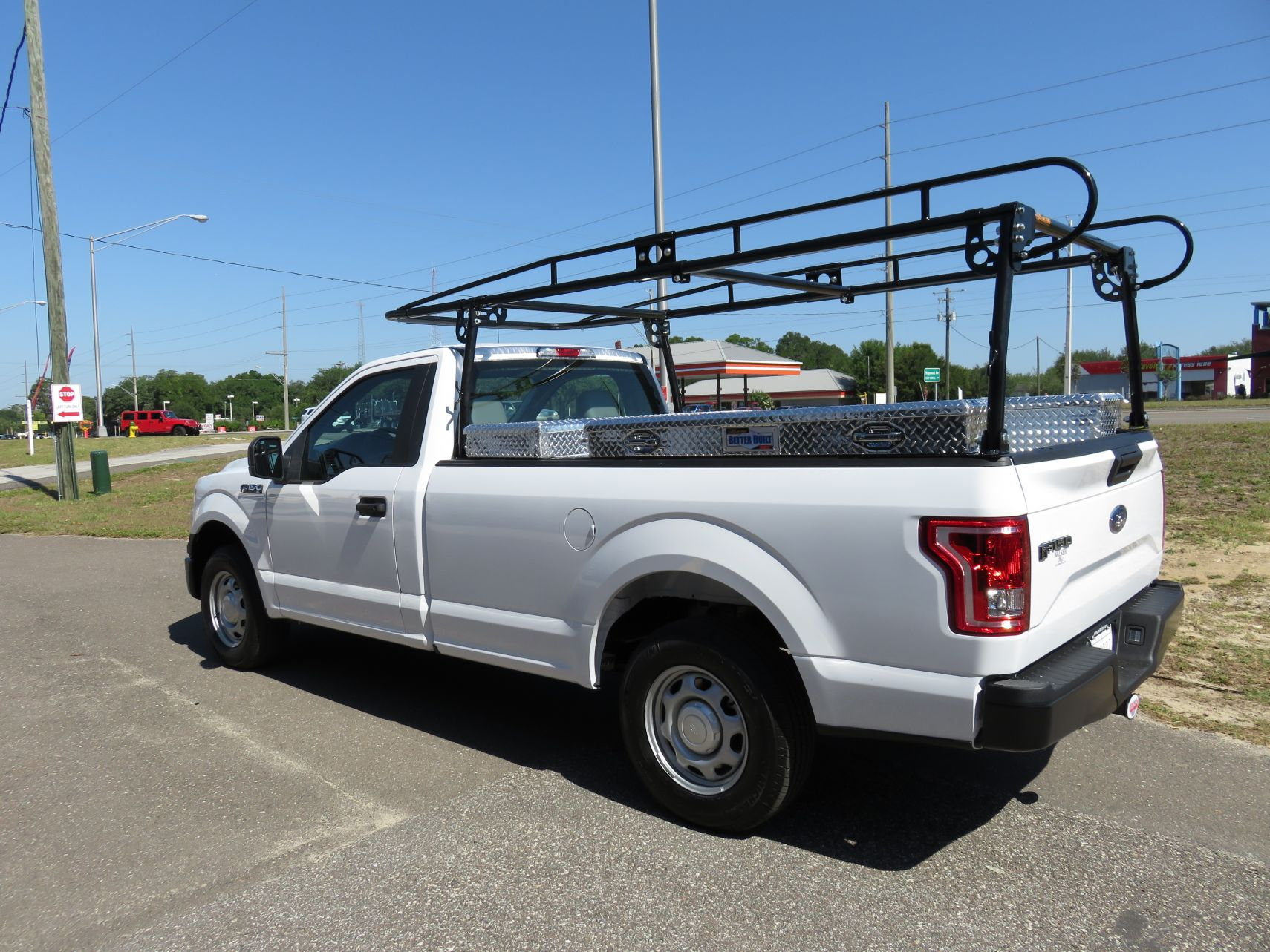 ford f150 ladder rack and tool boxes