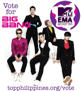 Vote for Big Bang at the MTV Europe Music Awards (EMA)!