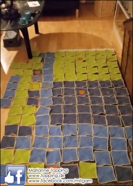 Hæklet tæppe - optælling af lapper