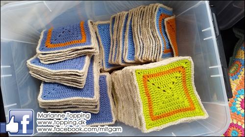 Hæklet tæppe - klar til montering
