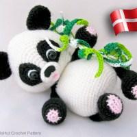 Panda - dansk hækleopskrift fra Little Owls Hut