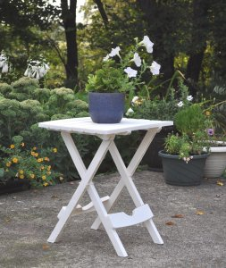 Adams Manufacturing 8500-48-3700 Quik-Fold® Side Table, White