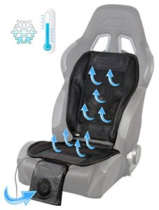 Air Breathing Cooling Car Chair Seat Cushion Foam Pad Cover with Motor Fan