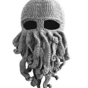 LOCOMO Tentacle Octopus Cthulhu Knit Beanie Hat Cap Wind Ski Mask FFH135DBLU