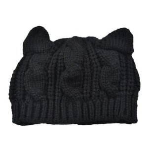 Tobey® Unisex Cute Devil horns Cat Ear Crochet Braided Knit Ski Wool Hat Cap