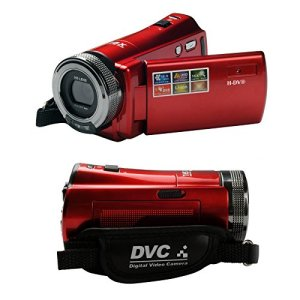 H-DV® New Fashion 2.7 TFT LCD 16MP HD 720P Digital Video Recorder Camera 16x Digital ZOOM DV,Red