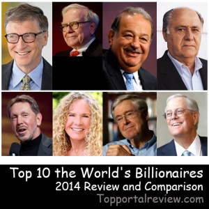 Top 10 the World's Billionaires 2014 Review and Comparison