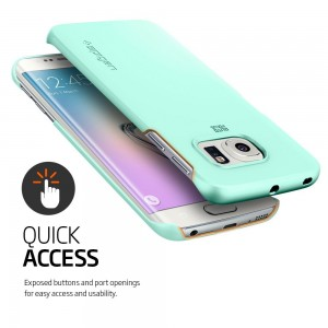 SPIGEN Galaxy S6 Edge Case Slim NEW Thin Fit Mint