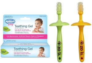 10. Zoli Gummy Stick Teethers and Hyland's Teething Gel