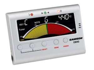 #1. Samson CM40 Chromatic Guitar Tuner Metronome