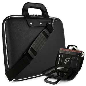 #5. Cady Messenger Cube – JET BLACK Ultra Durable Tactical Leather -ette Bag Case
