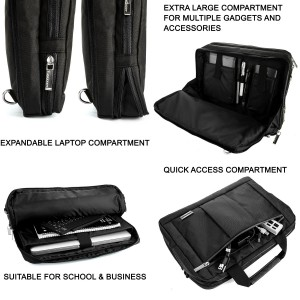 #6. Microsoft Surface Pro 3 Lightweight Water Resistant Nylon Messenger Bag
