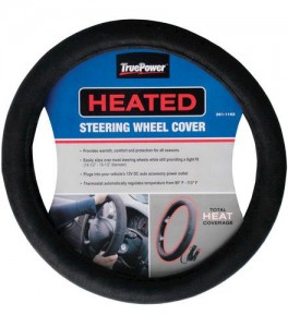 9. Heated cover for steering wheel