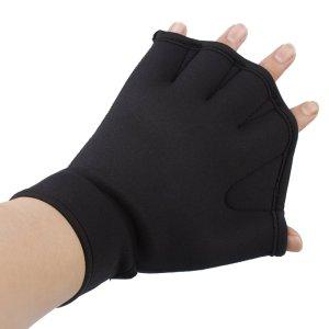 Innogear Water Resistance Training Fingerless Webbed Swim Gloves (Large)