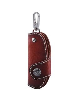MEKU Handmade Leather Smart Key Chain Case Pocket Key Holder
