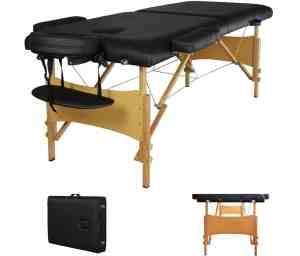 BestMassage Black Portable Massage Table