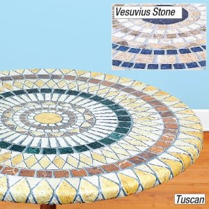 Elasticized Mosaic Table Cover