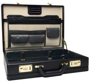 RoadPro CAP-003PMBK Premium Briefcase