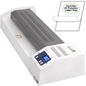 Apache AL18P Professional HotCold 18 A3 4 Roller Thermal Laminator for Documents and Photos. Includes a 20 Pack of Standard 5 and 3 mil Laminator Po