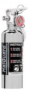 H3R Performance HG100C HalGuard Chrome Clean Agent Fire Extinguisher - 1.4 lbs