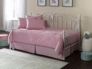 Paramount 5-Piece Twin Daybed Ensemble, Solid Pink